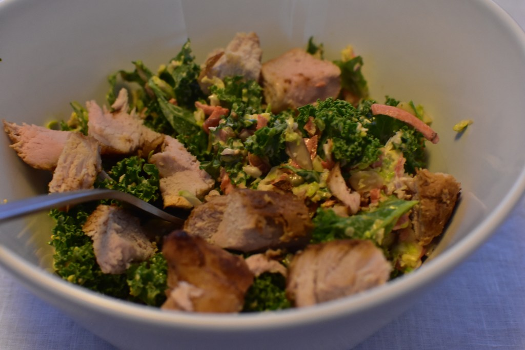 Crunchy bbq ranch salad with pork