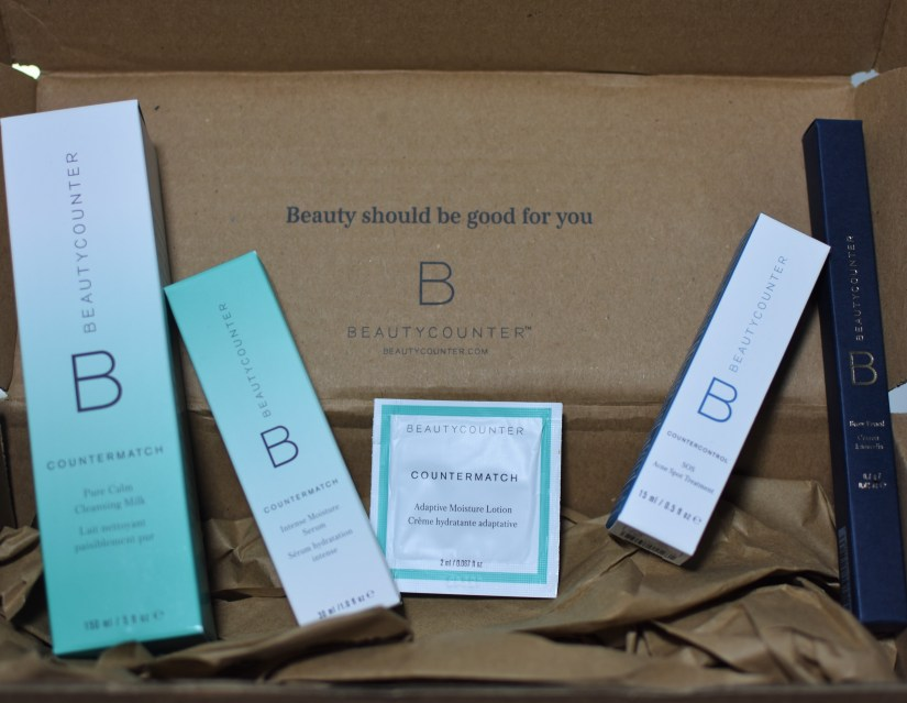 a brown box filled with beautycounter products