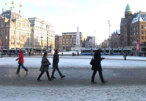 Dam Square in winter
