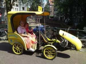 Bike taxi in Amsterdam
