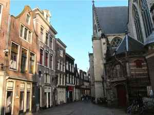 Oude Kerk in the Amsterdam Red Light District