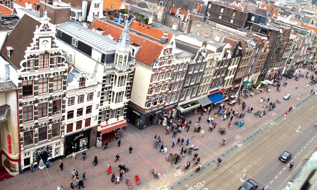 Why are Amsterdam houses crooked?