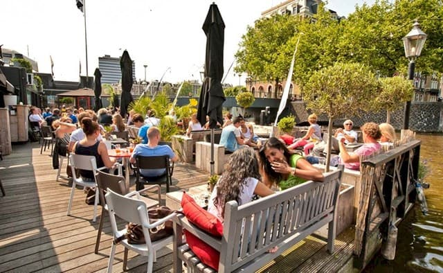 Terrace on the water: Amstelhaven