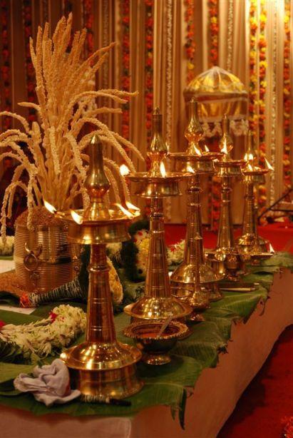 nilavilakku and para, Kerala Decor