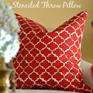 How to Paint with Acrylic Paint on Fabric – Stenciled Throw Pillow