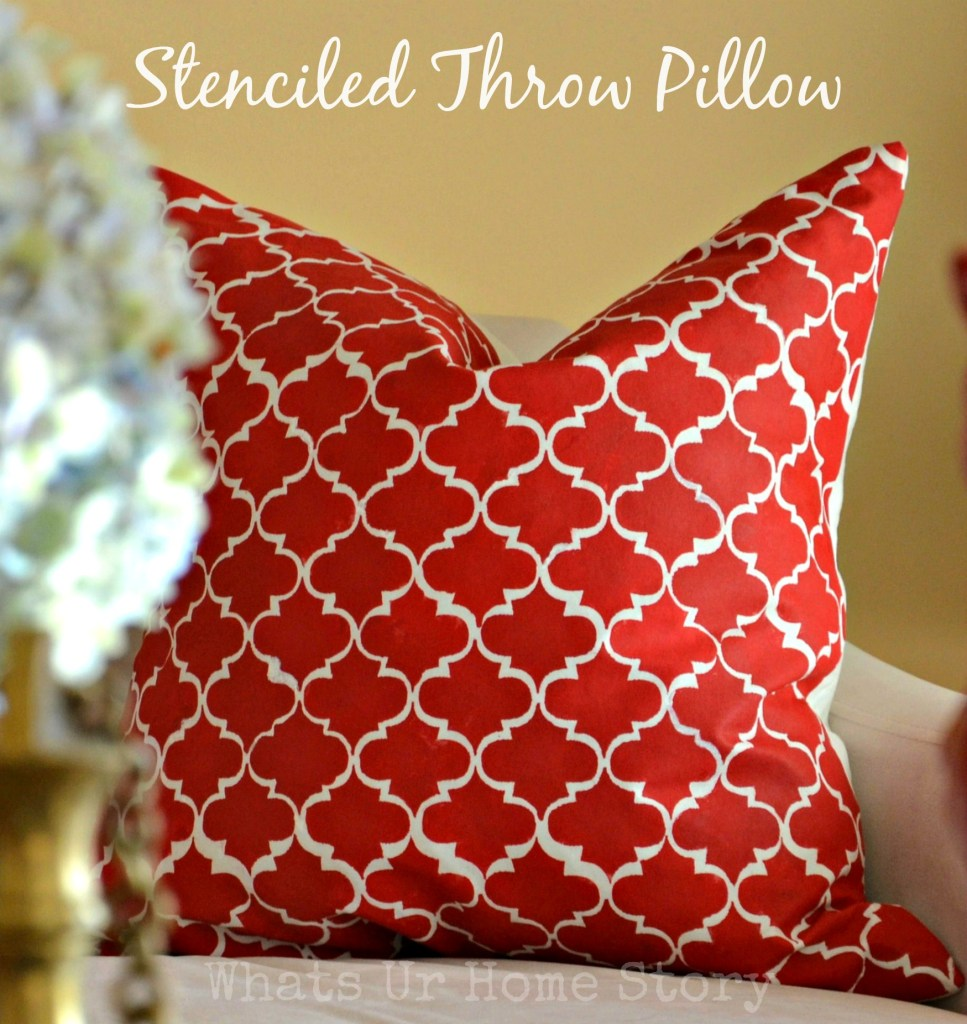 How to paint with acrylic paint on fabric stenciled - Fabric for throw pillows ...
