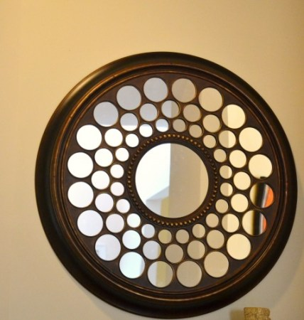 circles mirror, foyer update