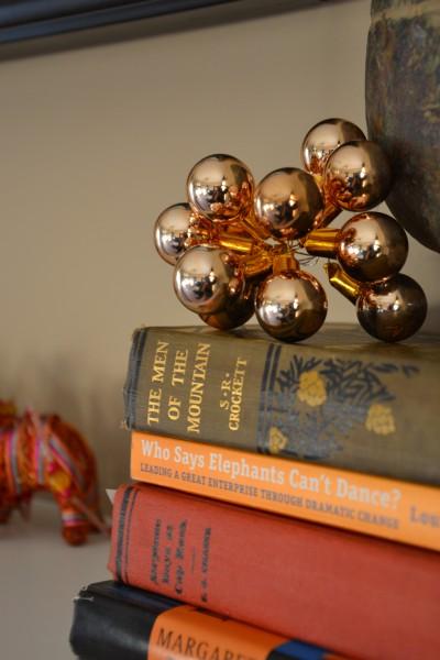 Christmas ornaments as decor