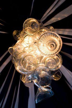 wine glass chandelier