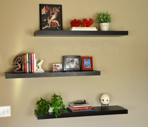 Whats Ur Home Story: How to Style Floating Shelves, floating shelves