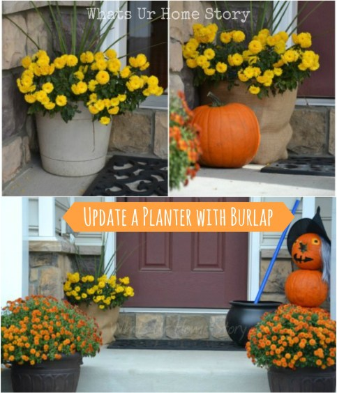 How to update a planter with burlap, burlap wrapped planter
