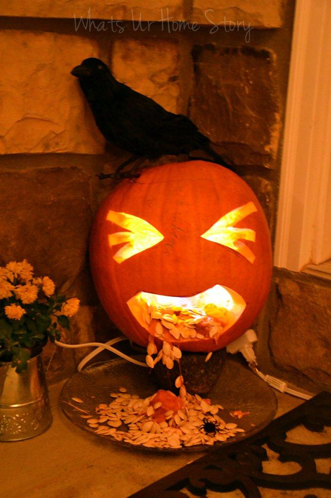 Whats Ur Home Story: Barfing jack-o-lanter, barfing pumpkin halloween