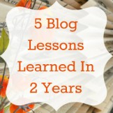 5 Blog Lessons Learned in 2 Years