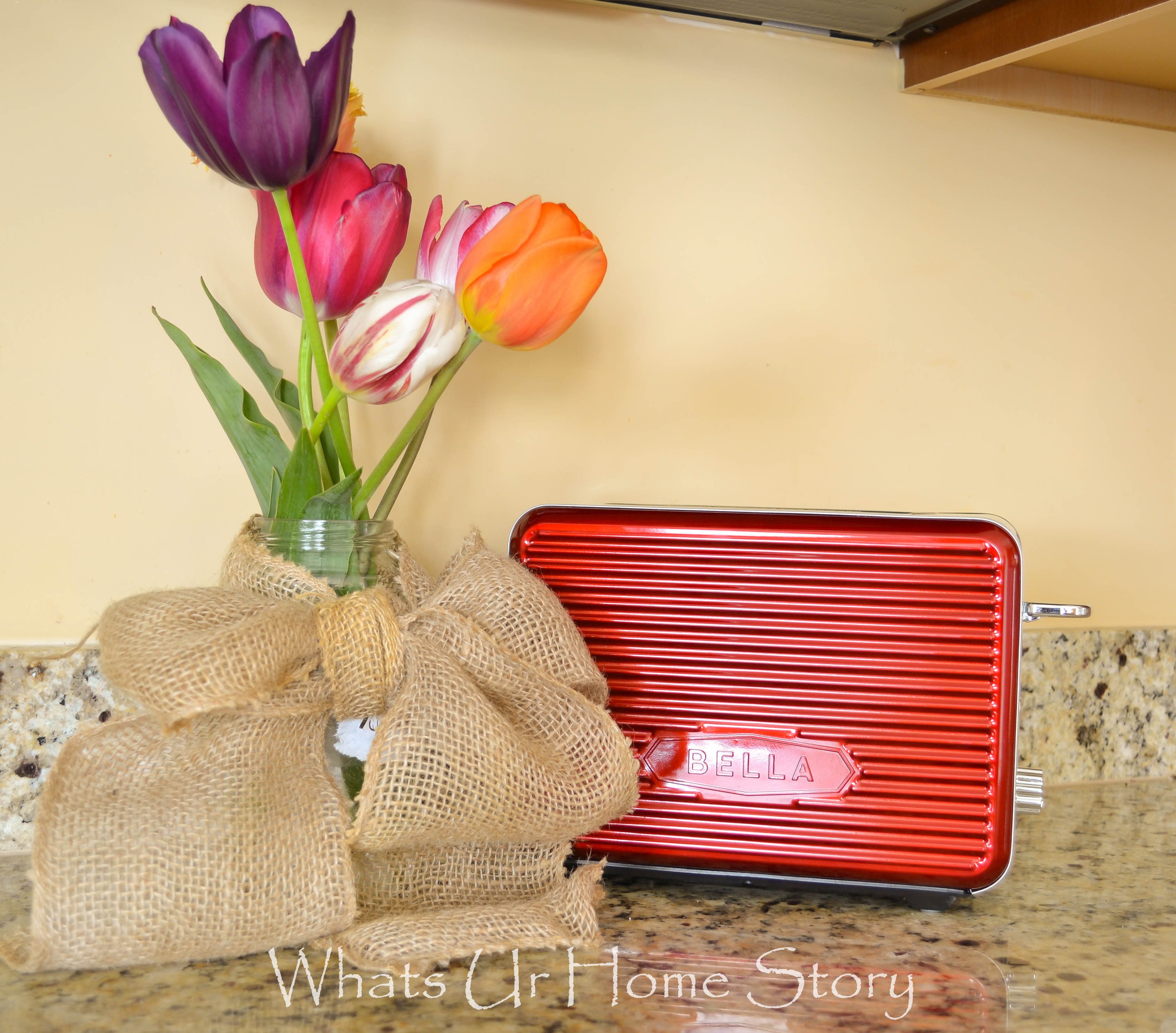 red toaster, retro red toaster, Bella Linea Toaster, Bella Linea Collection
