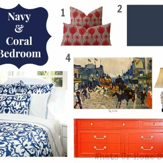 Navy & Coral it is!