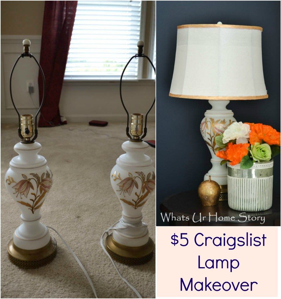 Craigslist lamp makeover, update a lamp with Brasso and gilding