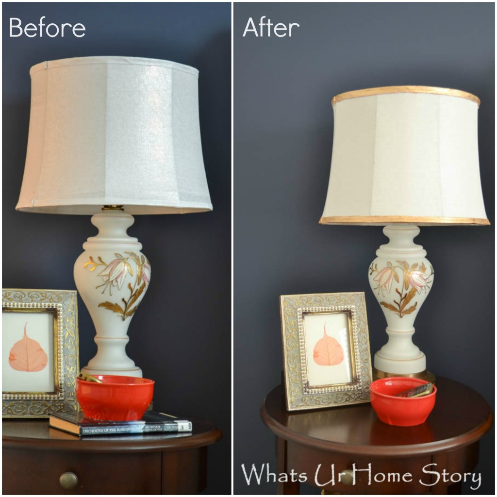 update a lamp shade with gilding