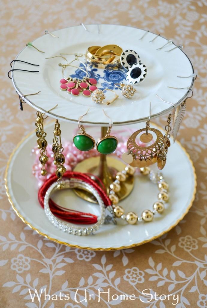 diy jewelry stand-tiered jewelry stand