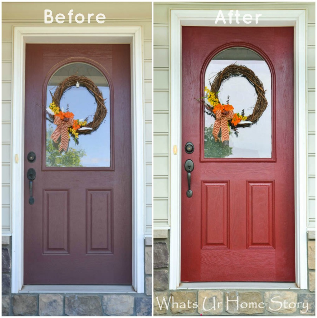 paint a front door, How to paint a front door tutorial