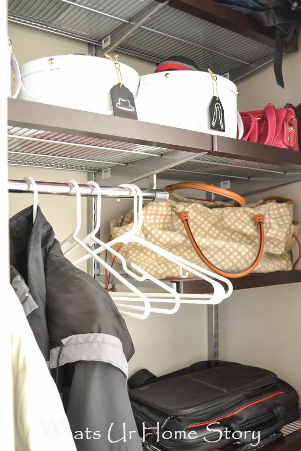 Elfa coat closet