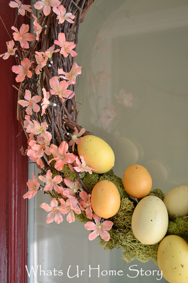 Spring wreath with Easter eggs