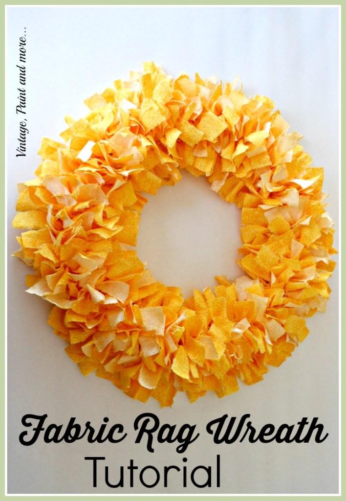 fabric rag wreath tutorial