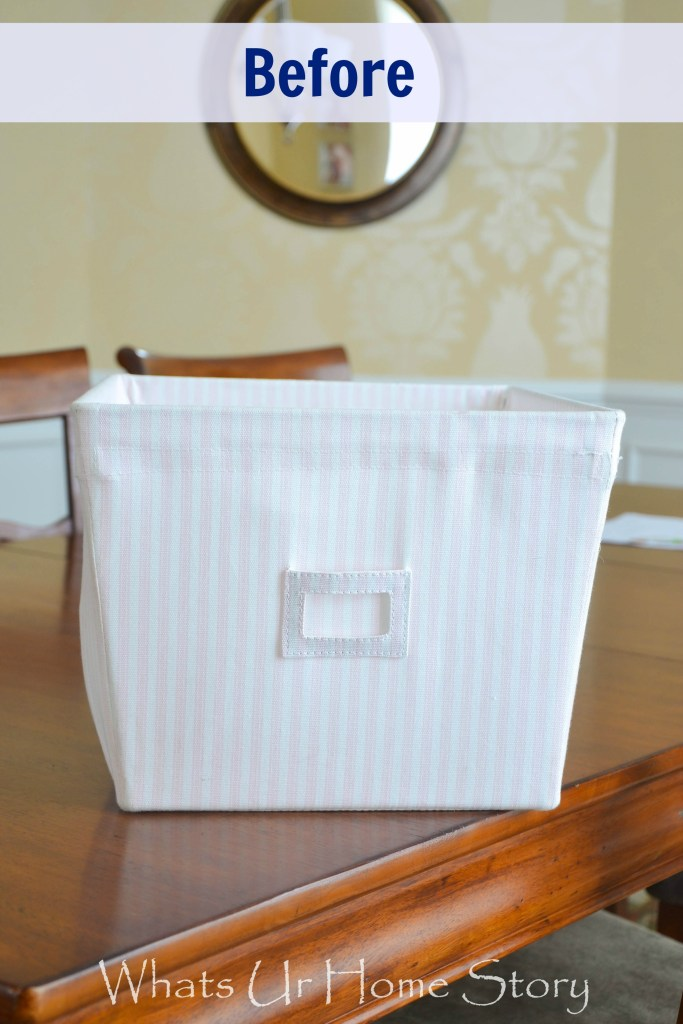 Update an old fabric bin with chalk paint, how paint fabric with chalk paint