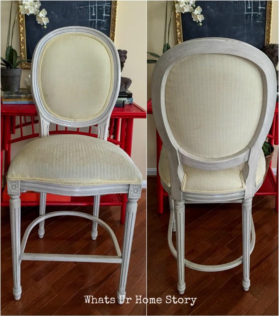 Fabric bar stool makeover