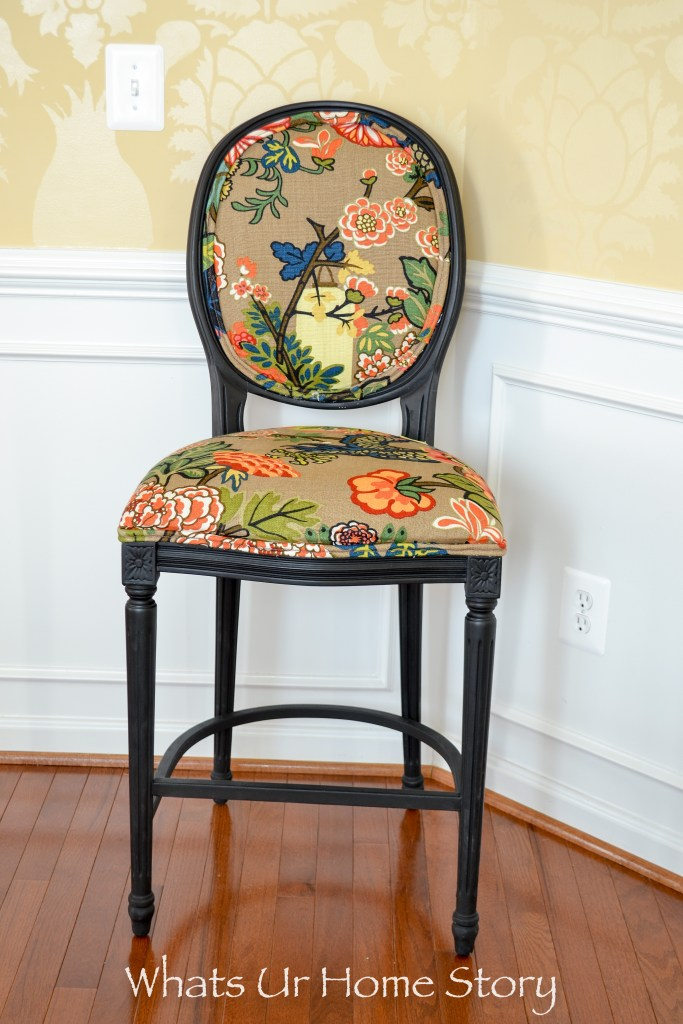 How to give new life to old chairs by painting and changing out the fabric on the cushions -Chiang Mai Dragon Fabric