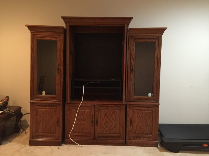 how-to-get-rid-of-old-furniture-especially-a-arge-entertainment-center