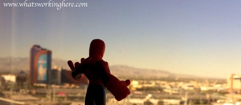 Spiderman Overlooking Vegas