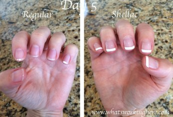 Regular vs Shellac- Day 5