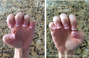 Regular vs Shellac- Day 2