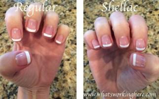 Regular vs Shellac polish