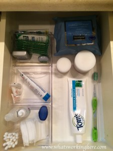 Toothbrush drawer