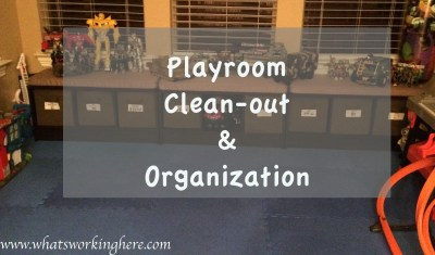 Playroom Clean Out and Organization Title
