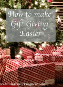 How to make gift giving easier