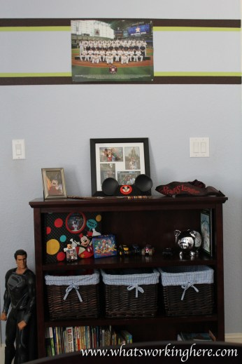 Bookcase & Disney Shrine