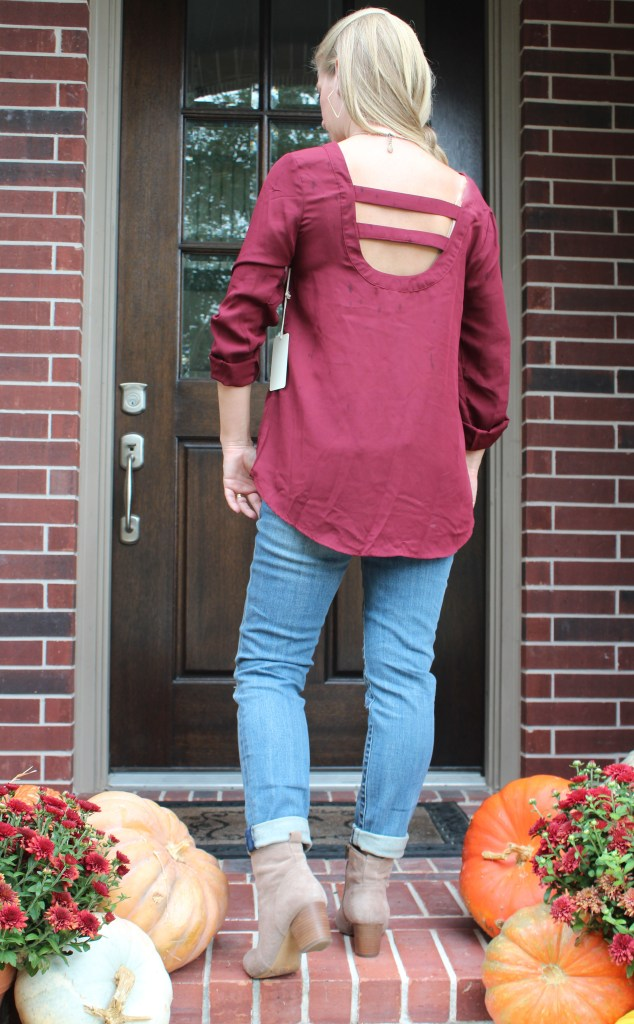 Stitch Fix- Sena Bar Back Blouse by 41Hawthorn