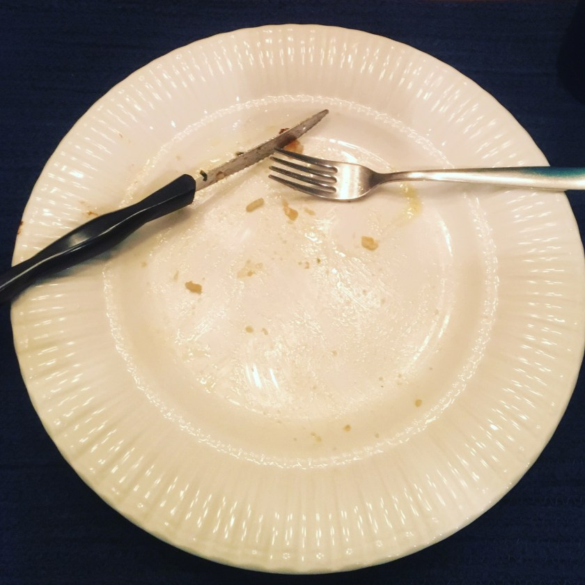 Clean Plate - A sign of a delicious meal