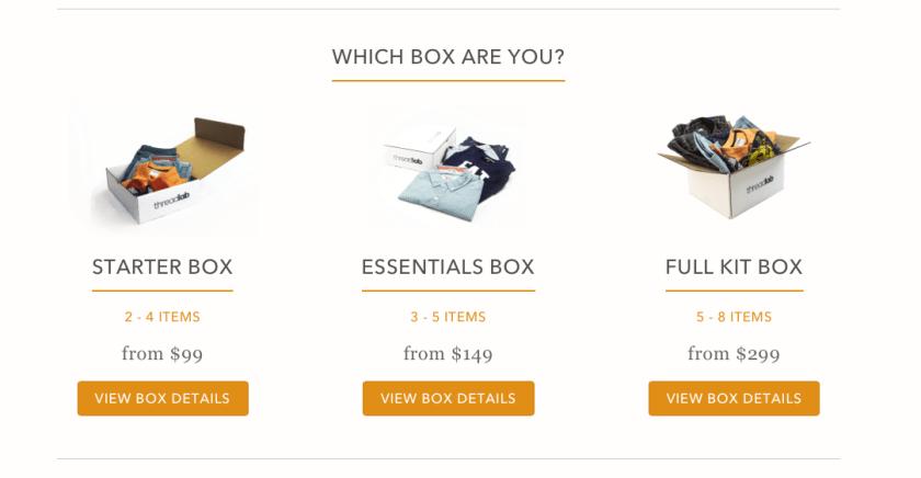 ThreadLab Box Choices