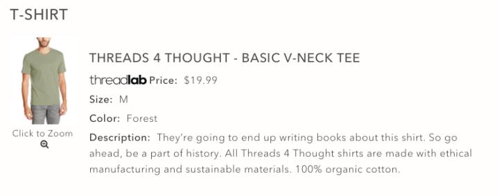 ThreadLab -Threads 4 Thought Tee