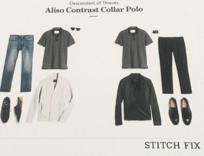 Descendant of Thieves Alsio Contrast Collar Polo