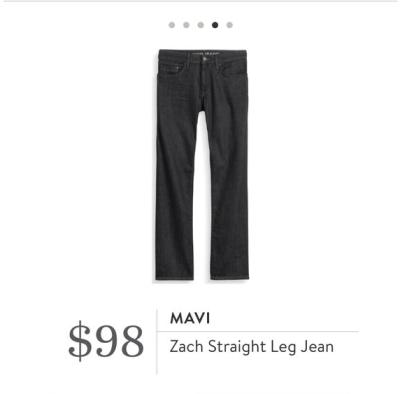 Mavi Zach Straight Leg Jean