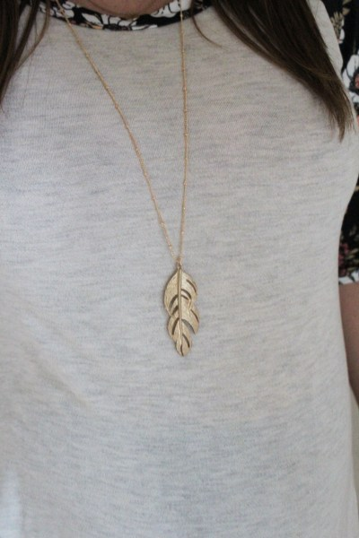 Stitch Fix- Romolo Feather Pendant