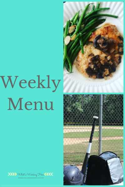 April 23rd Weekly Menu