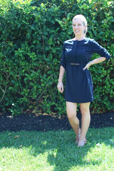 Stitch Fix- Skies Are Blue Delaine Belted Shirt Dress