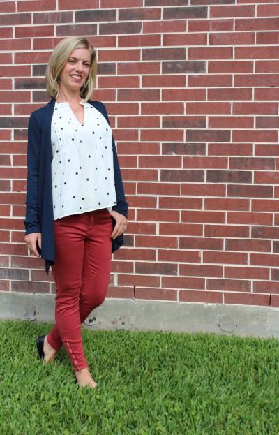 Stitch Fix -Jayai blouse, lola skinny jean, abrianna cardigan