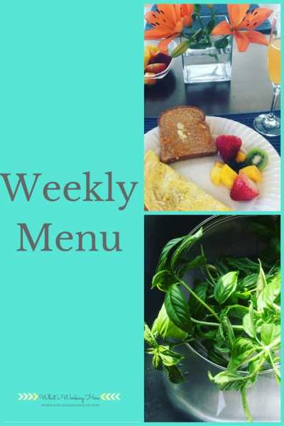May 7th Weekly Menu