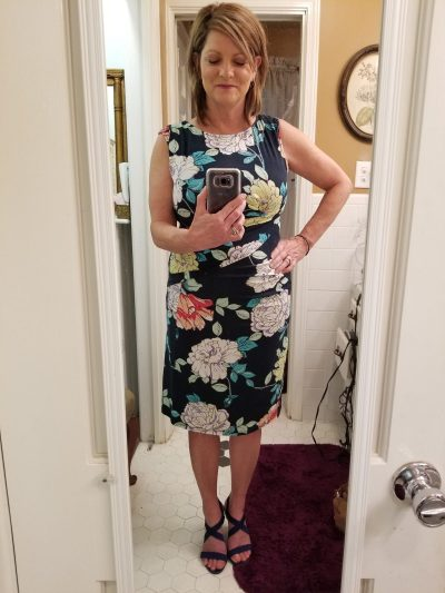 Stitch Fix -Kut From The Cloth Mollee Knit Dress Navy Heels